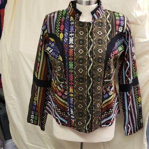 Multi prints Bohemian  style  Jacket